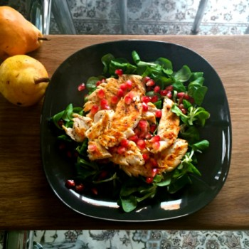 Roasted Chicken and Pomegranate Salad