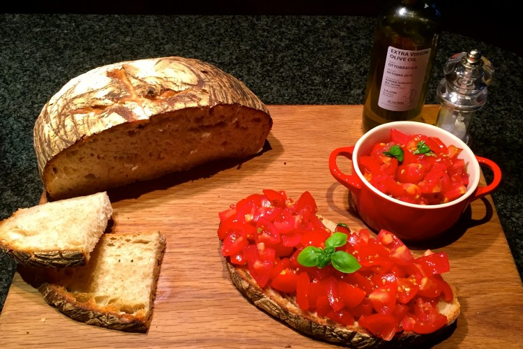 Authentic Italian Tomatoes Bruschetta